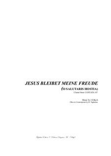 Jesus bleibet: For mixed choir, oboe and organ by Иоганн Себастьян Бах