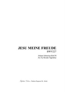 Jesu, meine Freude, BWV 227: For Brass quintet with parts by Иоганн Себастьян Бах