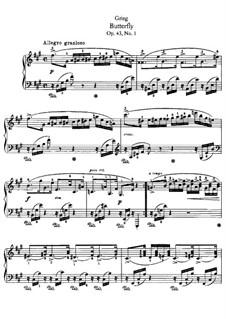 Лирические пьесы, Op.43: No.1 Бабочка by Эдвард Григ