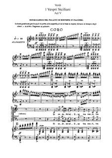 Сицилийская вечерня: Акт V, для солистов, хора и фортепиано by Джузеппе Верди