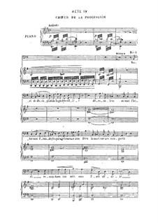 Иерусалим: Акт IV, для солистов, хора и фортепиано by Джузеппе Верди
