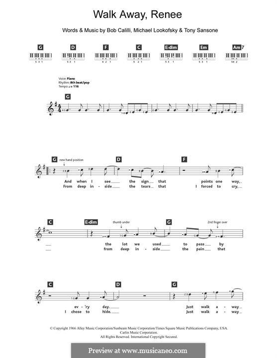 Walk Away, Renee: Мелодия by Bob Calilli, Michael Brown, Tony Sansone