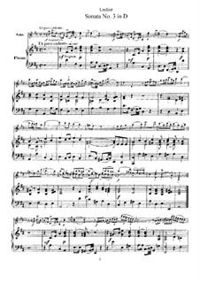 Соната для скрипки и бассо континуо No.3, Op.9: Версия для скрипки и фортепиано – партитура by Жан-Мари Леклер