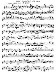 Соната для скрипки и бассо континуо No.3, Op.9: Сольная партия by Жан-Мари Леклер