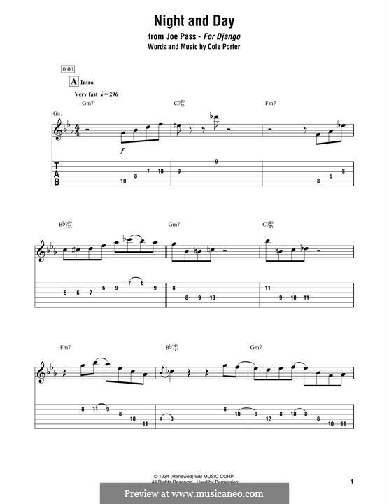 Night and Day (Frank Sinatra): Для гитары by Кол Портер