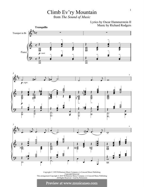 Climb Ev'ry Mountain: For trumpet and piano by Richard Rodgers