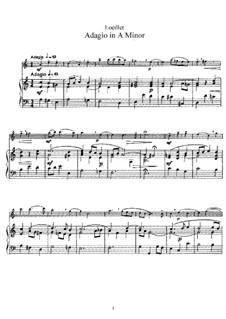 Адажио ля минор: Для флейты и фортепиано by Жан-Батист Лойе де Гент