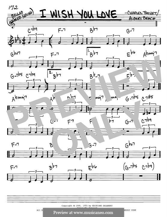 I Wish You Love: Для гитары by Charles Trenet