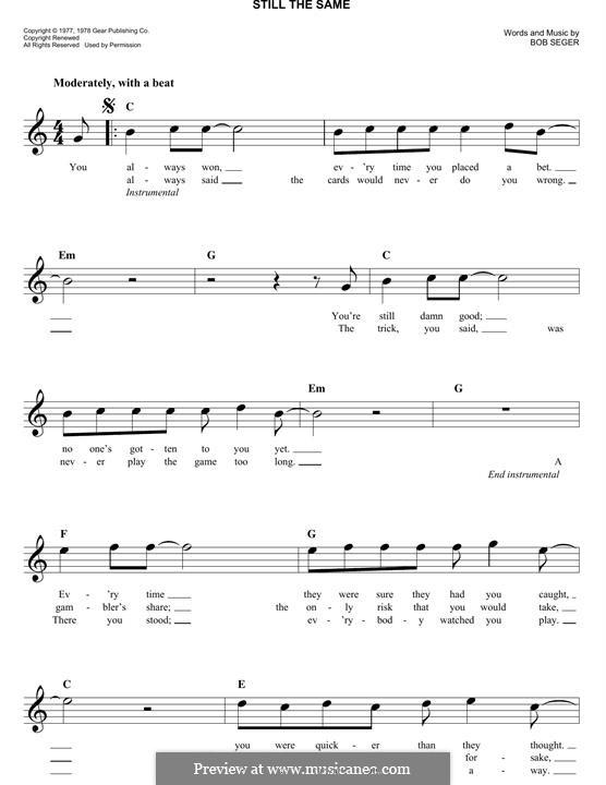 Still the Same: Мелодия by Bob Seger