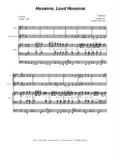 Hosanna, Loud Hosanna: Duet for flute and Bb-clarinet - organ accompaniment by Unknown (works before 1850)