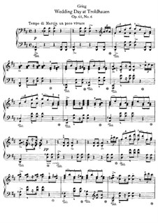 Лирические пьесы, Op.65: No.6 Свадебный день в Трольхаугене by Эдвард Григ
