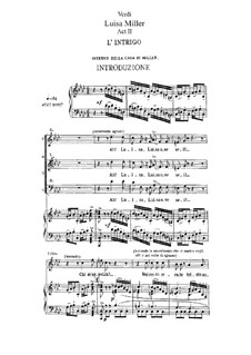 Луиза Миллер: Акт II, для солистов, хора и фортепиано by Джузеппе Верди