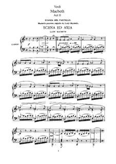 Макбет: Акт II No.9-11, для солистов, хора и фортепиано by Джузеппе Верди
