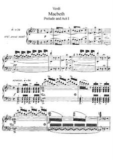 Макбет: Акт I Nos.1-6, для солистов, хора и фортепиано by Джузеппе Верди