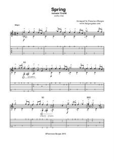 Концерт для скрипки с оркестром No.1 ми мажор 'Весна', RV 269: Гитарная табулатура by Антонио Вивальди