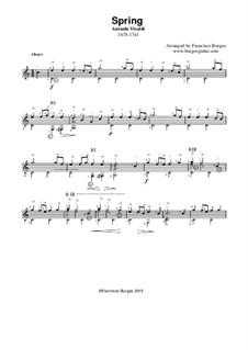 Концерт для скрипки с оркестром No.1 ми мажор 'Весна', RV 269: Для гитары by Антонио Вивальди