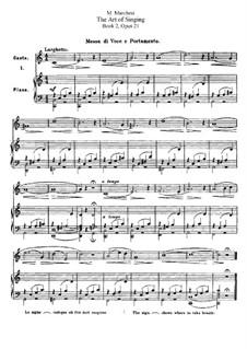 Искусство пения, Op.21: Книга II by Матильда Маркези