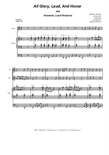 All Glory, Laud, and Honor (with 'Hosanna, Loud Hosanna'): For woodwind quartet and organ by Unknown (works before 1850), Melchior Teschner