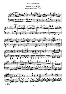 Соната для фортепиано No.8 ля мажор, Hob.XVI/5: Для одного исполнителя by Йозеф Гайдн