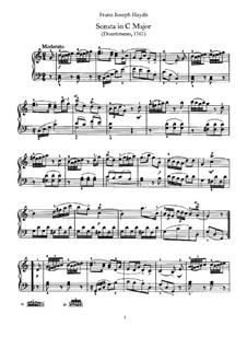 Соната для фортепиано No.6 до мажор, Hob.XVI/10: Для одного исполнителя by Йозеф Гайдн