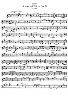 Соната для скрипки и фортепиано No.1 ми минор, Op.29: Сольная партия by Ферруччо Бузони