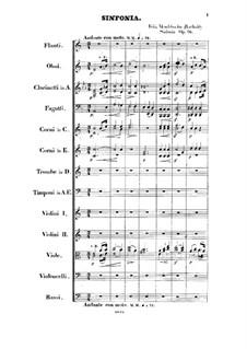 Симфония No.3 ля минор 'Шотландская', Op.56: Партитура by Феликс Мендельсон-Бартольди
