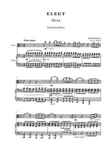 Элегия, Op.24: Для альта и фортепиано by Габриэль Форе