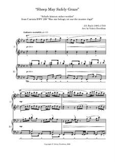 Sheep May Safely Graze: Для фортепиано в 4 руки by Иоганн Себастьян Бах