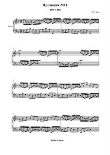 Прелюдия и фуга No.11 фа мажор, BWV 856: Прелюдия by Иоганн Себастьян Бах