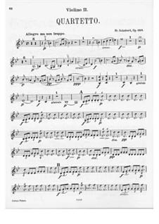 Струнный квартет No.8 си-бемоль мажор, D.112 Op.168: Скрипка II by Франц Шуберт
