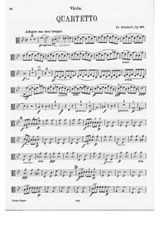 Струнный квартет No.8 си-бемоль мажор, D.112 Op.168: Партия альта by Франц Шуберт