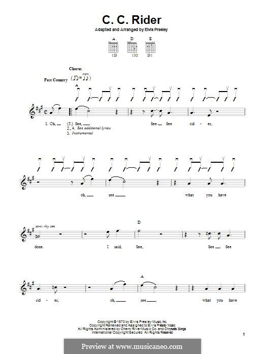 C.C. Rider: Для гитары by folklore
