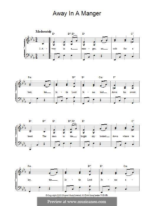 Away in a Manger: Для фортепиано by folklore