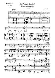 No.19 Жена вождя: Клавир с вокальной партией (немецкий и французский тексты) by Роберт Шуман
