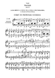 Макбет: Акт IV, для солистов, хора и фортепиано by Джузеппе Верди