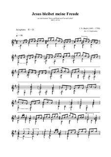 Jesus bleibet: For guitar by Иоганн Себастьян Бах