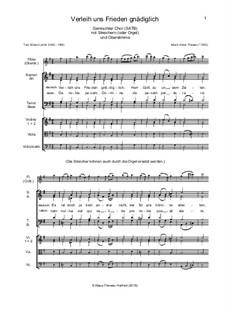Verleih uns Frieden gnädiglich: Für gem. Chor, Streicher und Flöte (deutsch und latein) by Klaus Thewes