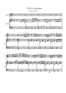 Ma se ghe pensu: Для флейты и фортепиано by folklore