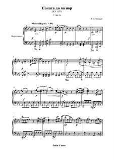Соната для фортепиано No.14 до минор, K.457: Часть I by Вольфганг Амадей Моцарт