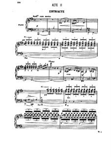 Генри VIII: Акт II, для солистов, хора и фортепиано by Камиль Сен-Санс