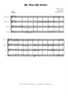 Be Thou My Vision: For brass quartet and piano by folklore