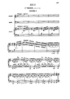 Генри VIII: Акт III, для солистов, хора и фортепиано by Камиль Сен-Санс
