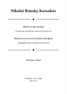Млада. Опера: Procession of the Nobles (abridged), for brass ensemble – full score by Николай Римский-Корсаков