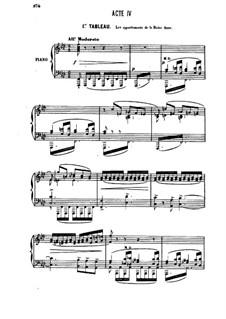 Генри VIII: Акт IV, для солистов, хора и фортепиано by Камиль Сен-Санс