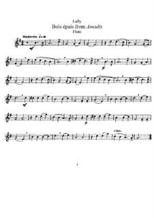 Амадис или Амадис Галльский, LWV 63: Bois épais. Version for flute and piano – solo part by Жан-Батист Люлли
