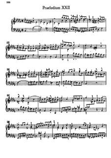 Прелюдия и фуга No.22 си-бемоль минор, BWV 891: Для фортепиано by Иоганн Себастьян Бах