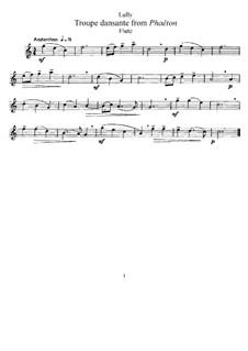 Фаэтон, LWV61: Troupe dansante, for Flute and Piano – Flute Part by Жан-Батист Люлли
