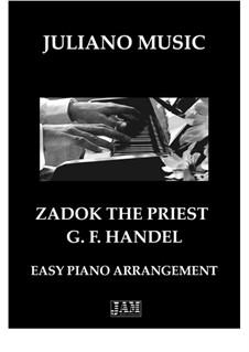 Садок-cвященник, HWV 258: Для фортепиано (легкий уровень) by Георг Фридрих Гендель