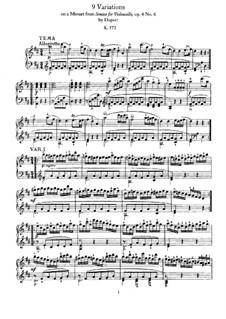 Девять вариаций на тему менуэта Дюпора, K.573: Для фортепиано by Вольфганг Амадей Моцарт