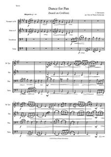 Dance for Pan (based on Cotillon): Для квартета медных духовых by Jean Hotteterre